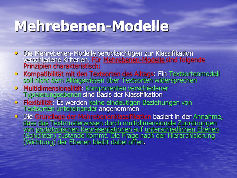 Mehrebenen-Modelle