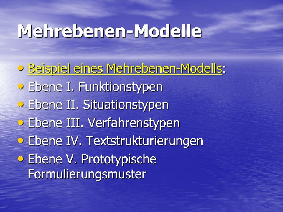 Mehrebenen-Modelle Beispiel eines Mehrebenen-Modells:
