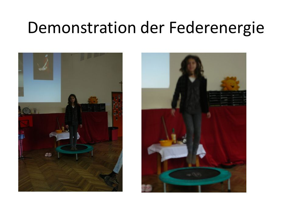 Demonstration der Federenergie