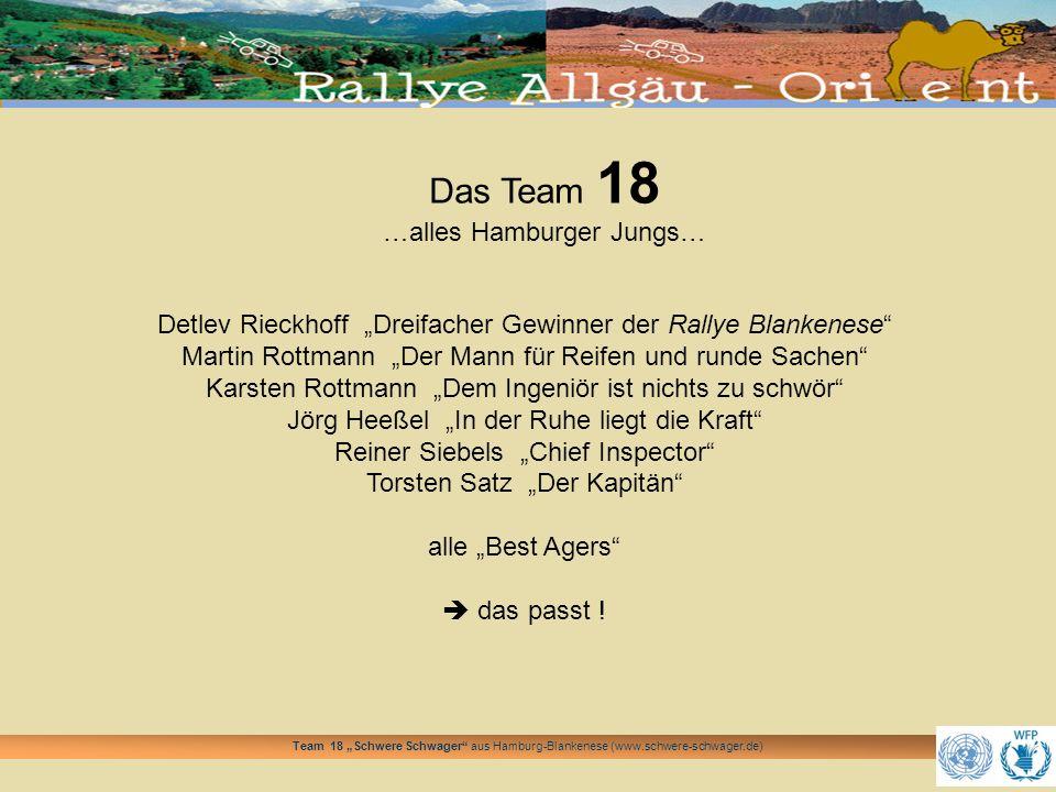 Das Team 18 …alles Hamburger Jungs…