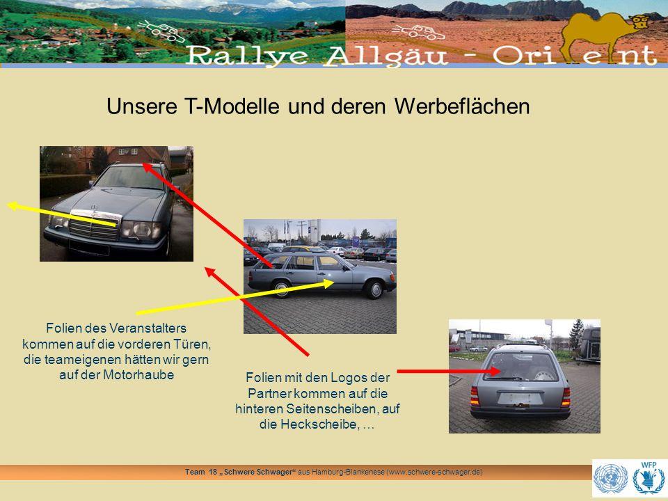 Unsere T-Modelle und deren Werbeflächen