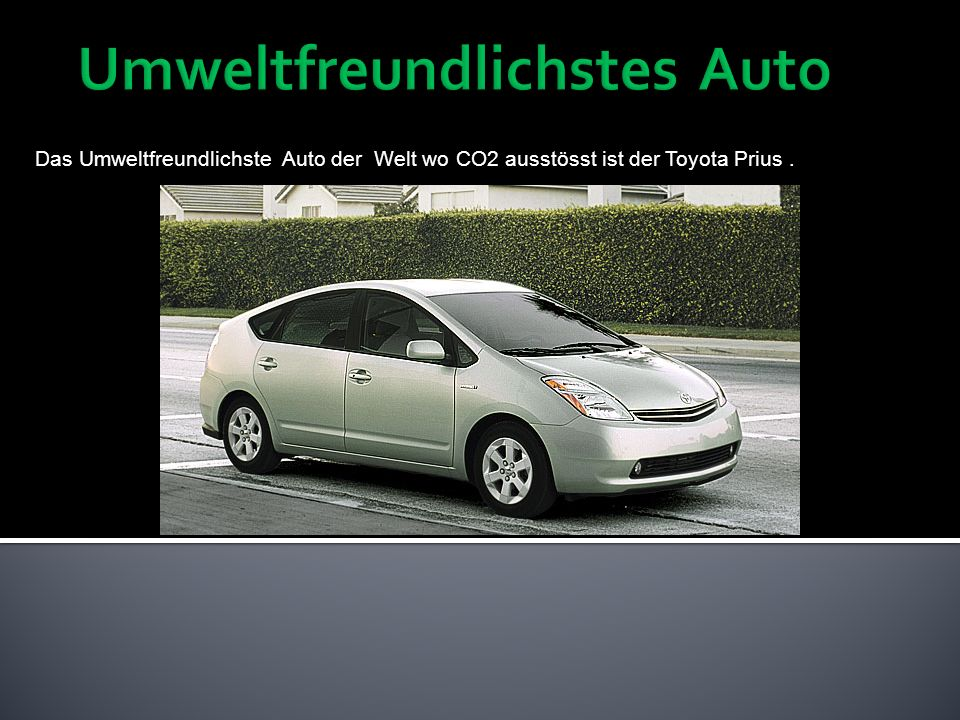 Umweltfreundlichstes Auto