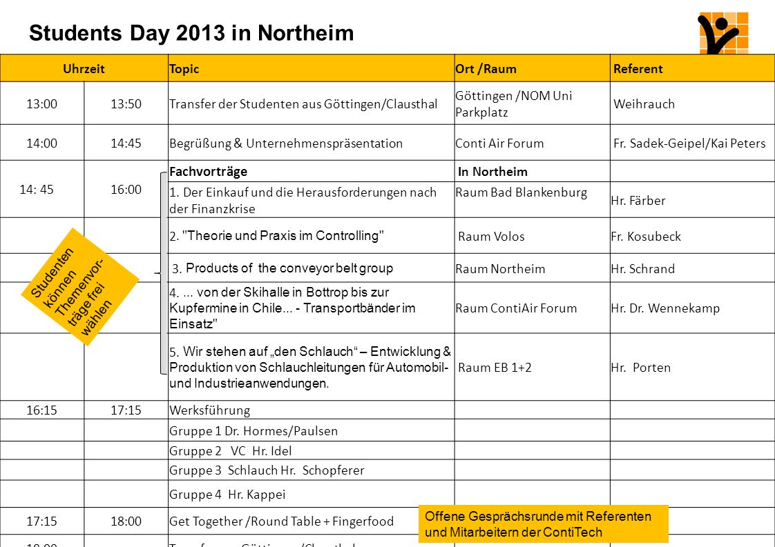 Students Day 2013 in Northeim