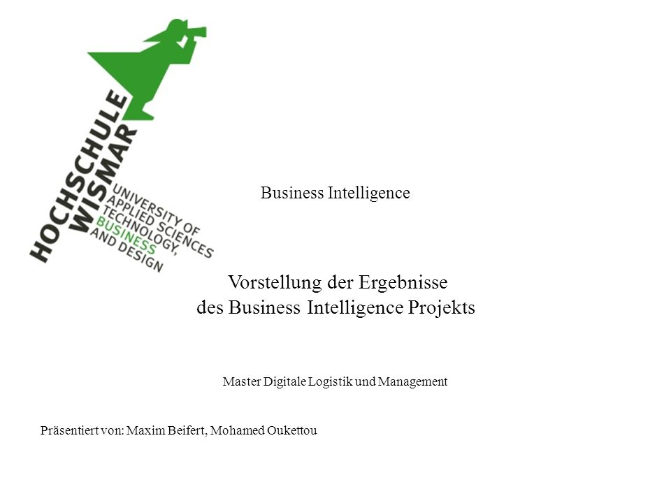 des Business Intelligence Projekts