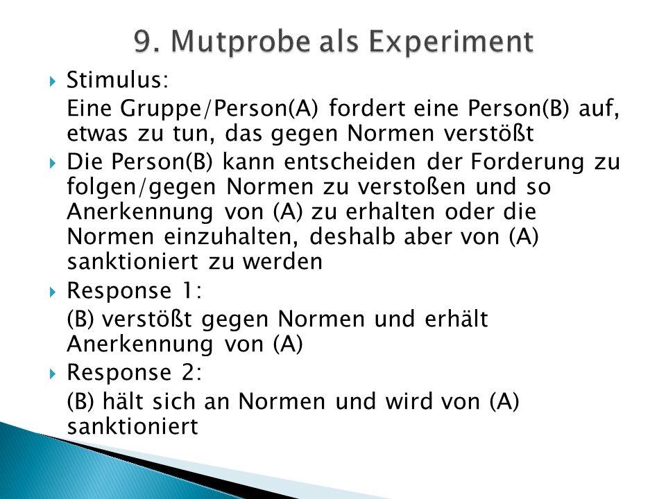 9. Mutprobe als Experiment