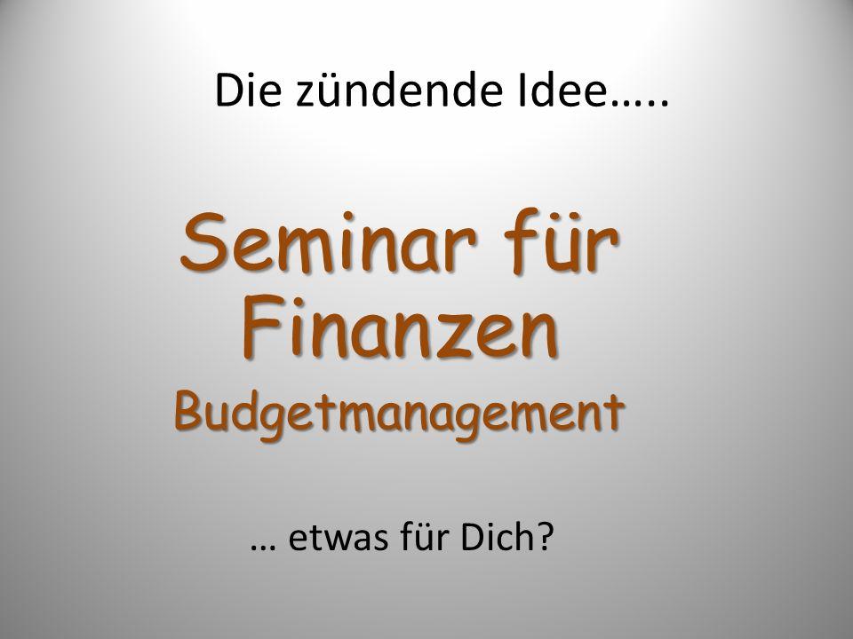 Seminar für Finanzen Budgetmanagement