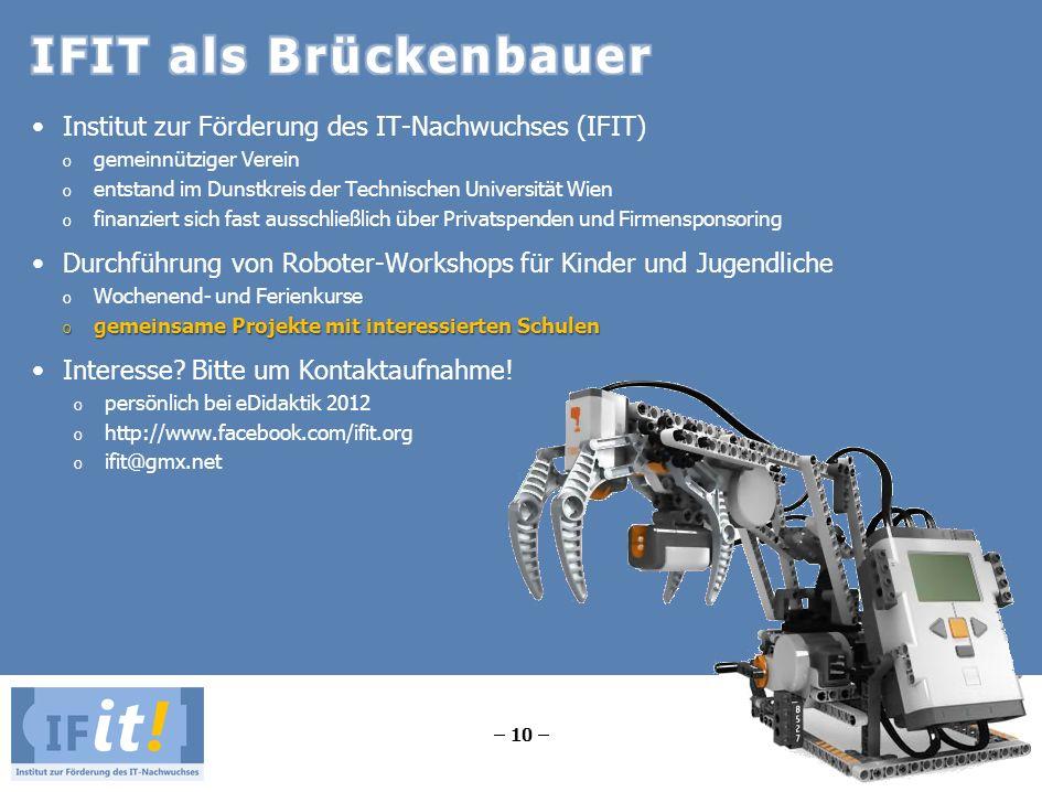 IFIT als Brückenbauer Institut zur Förderung des IT-Nachwuchses (IFIT)