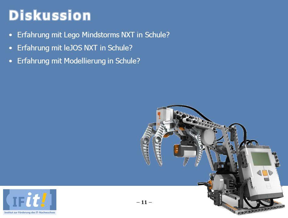 Diskussion Erfahrung mit Lego Mindstorms NXT in Schule