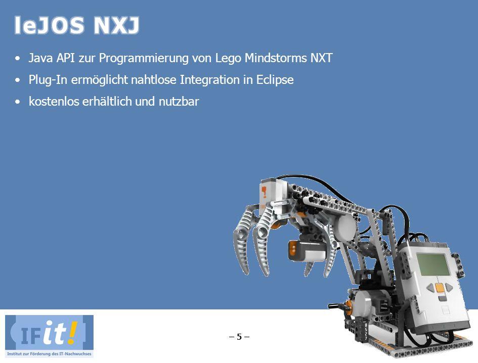 leJOS NXJ Java API zur Programmierung von Lego Mindstorms NXT