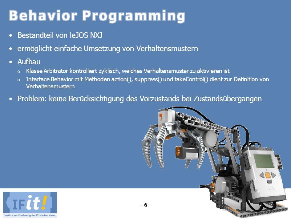 Behavior Programming Bestandteil von leJOS NXJ
