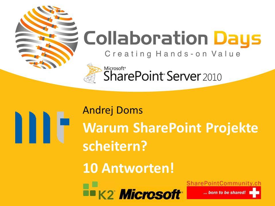Warum SharePoint Projekte scheitern 10 Antworten!