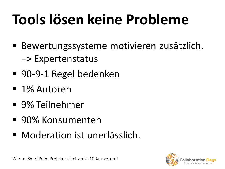 Tools lösen keine Probleme