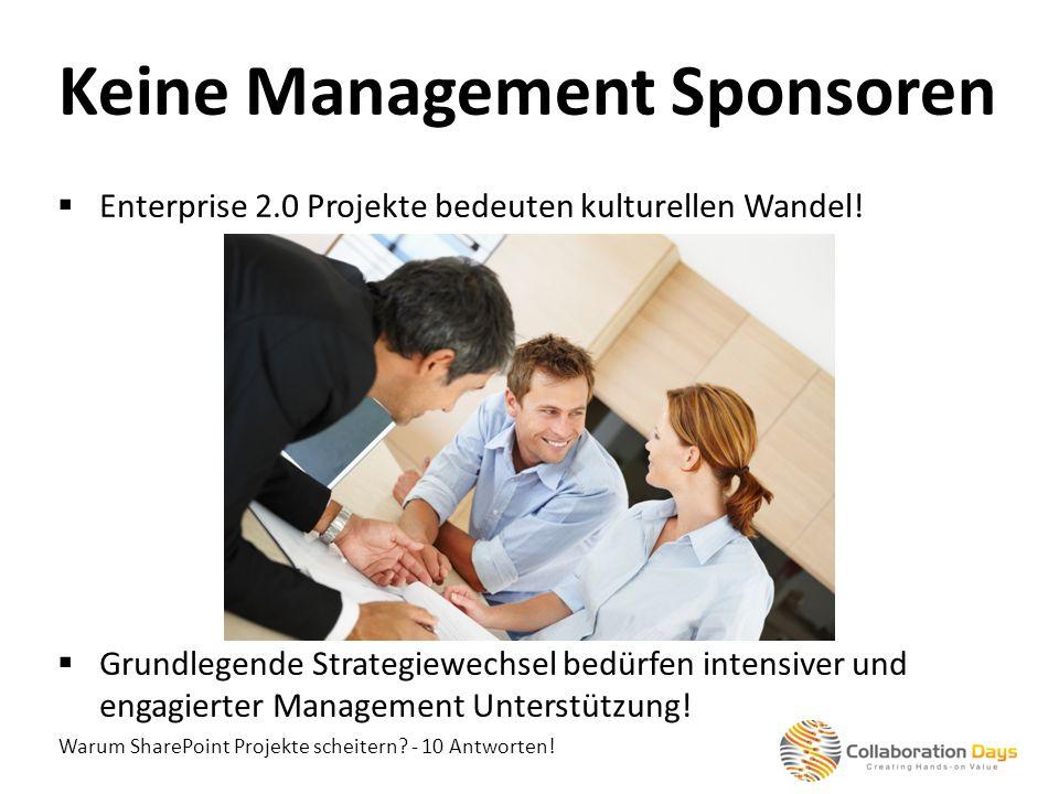 Keine Management Sponsoren