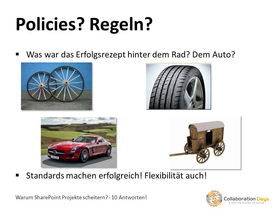Policies Regeln Was war das Erfolgsrezept hinter dem Rad Dem Auto