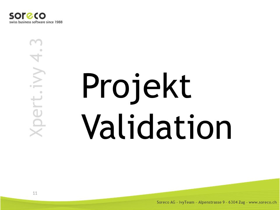 Projekt Validation Xpert.ivy 4.3