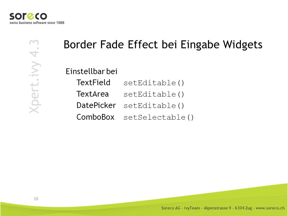 Border Fade Effect bei Eingabe Widgets
