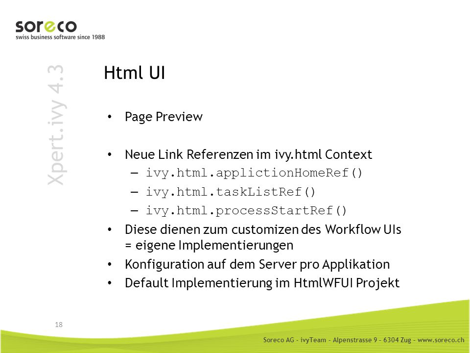 Xpert.ivy 4.3 Html UI Page Preview