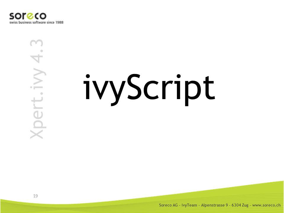 ivyScript Xpert.ivy 4.3