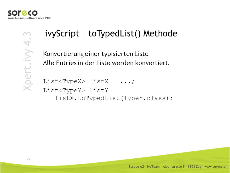 ivyScript – toTypedList() Methode