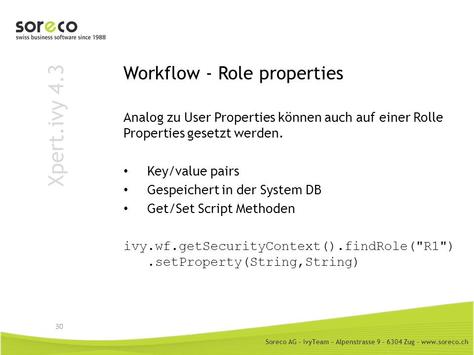 Workflow - Role properties