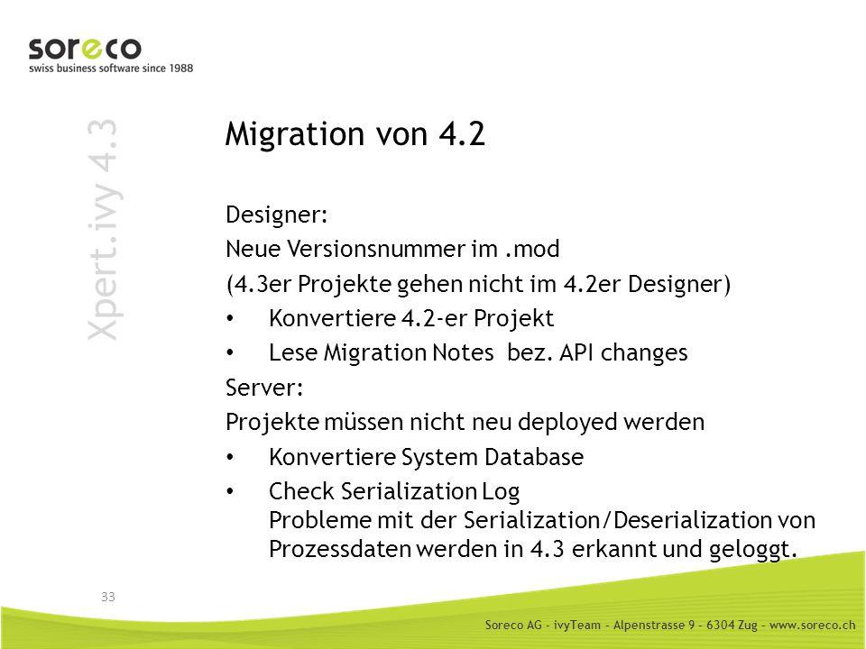 Xpert.ivy 4.3 Migration von 4.2 Designer: Neue Versionsnummer im .mod