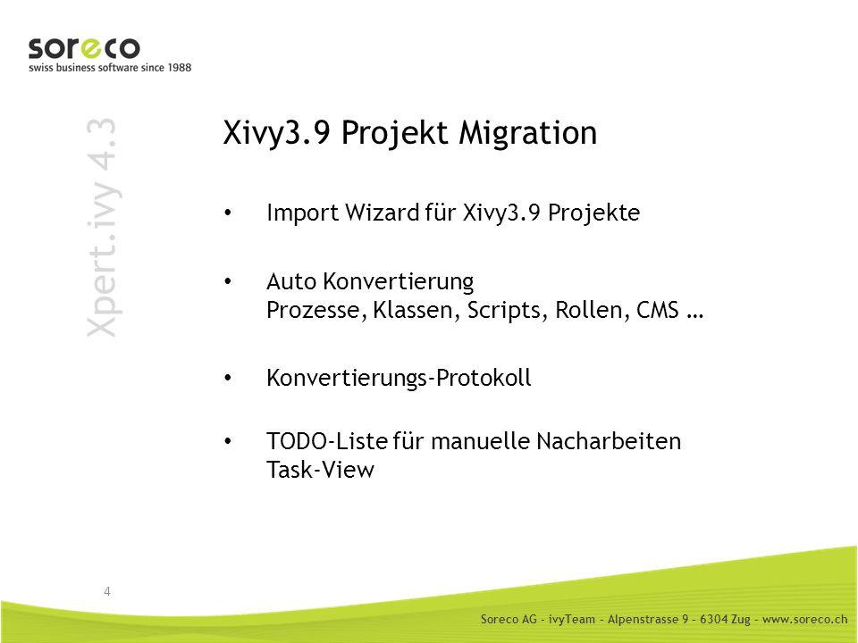 Xivy3.9 Projekt Migration