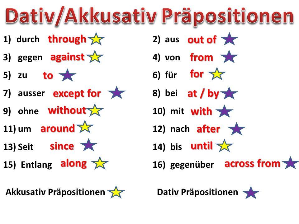 Dativ/Akkusativ Präpositionen