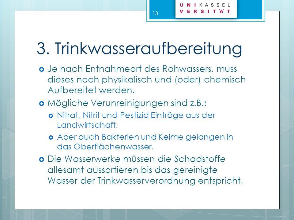 3. Trinkwasseraufbereitung