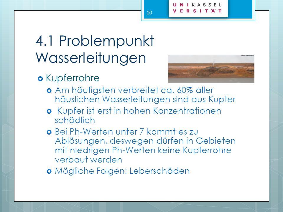 4.1 Problempunkt Wasserleitungen