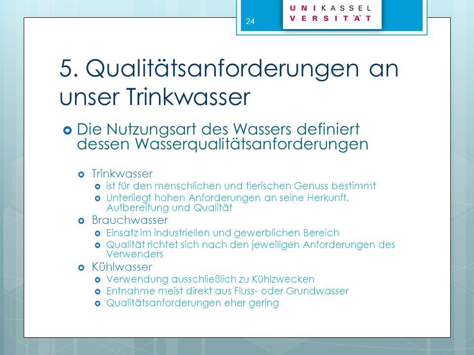 5. Qualitätsanforderungen an unser Trinkwasser