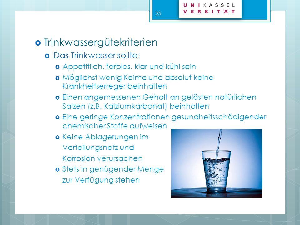 Trinkwassergütekriterien