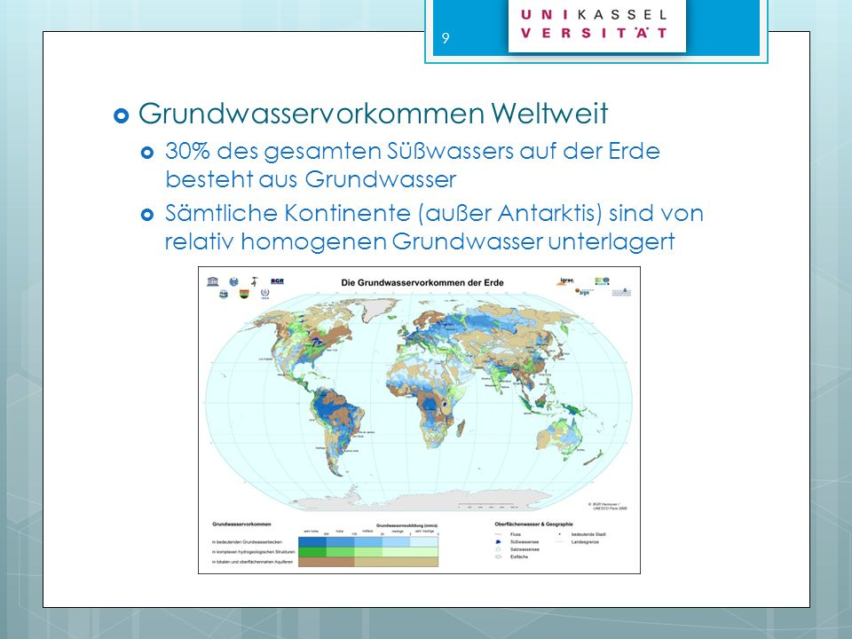 Grundwasservorkommen Weltweit
