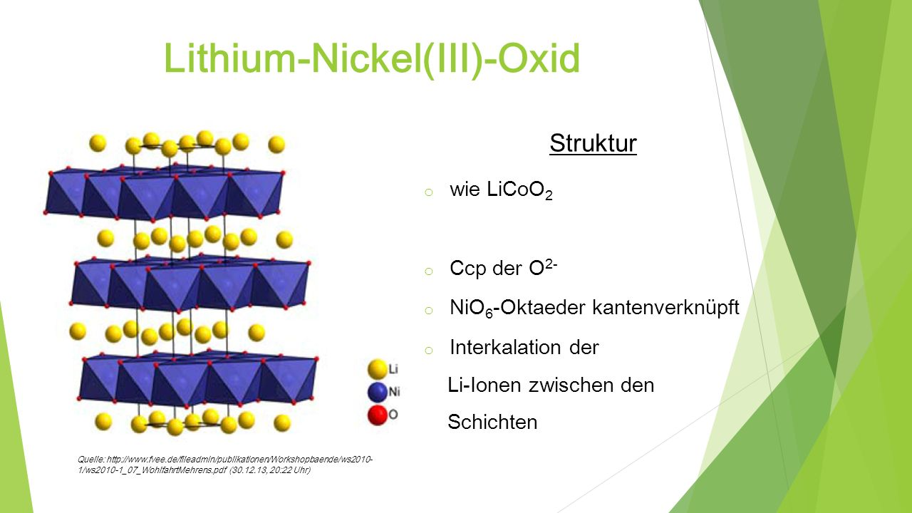 Lithium-Nickel(III)-Oxid