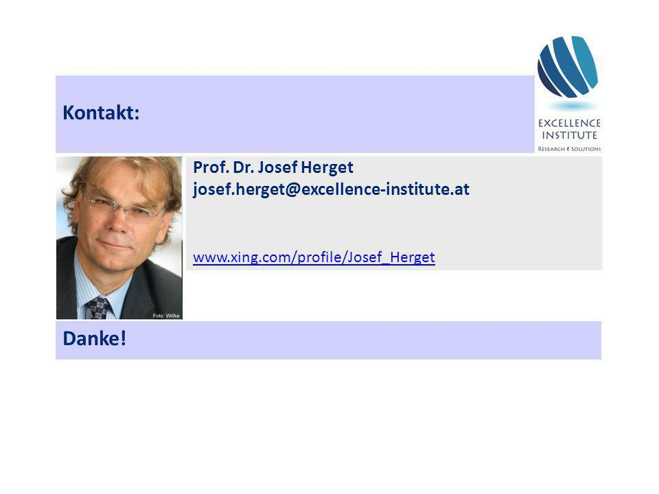 Kontakt: Danke! Prof. Dr. Josef Herget