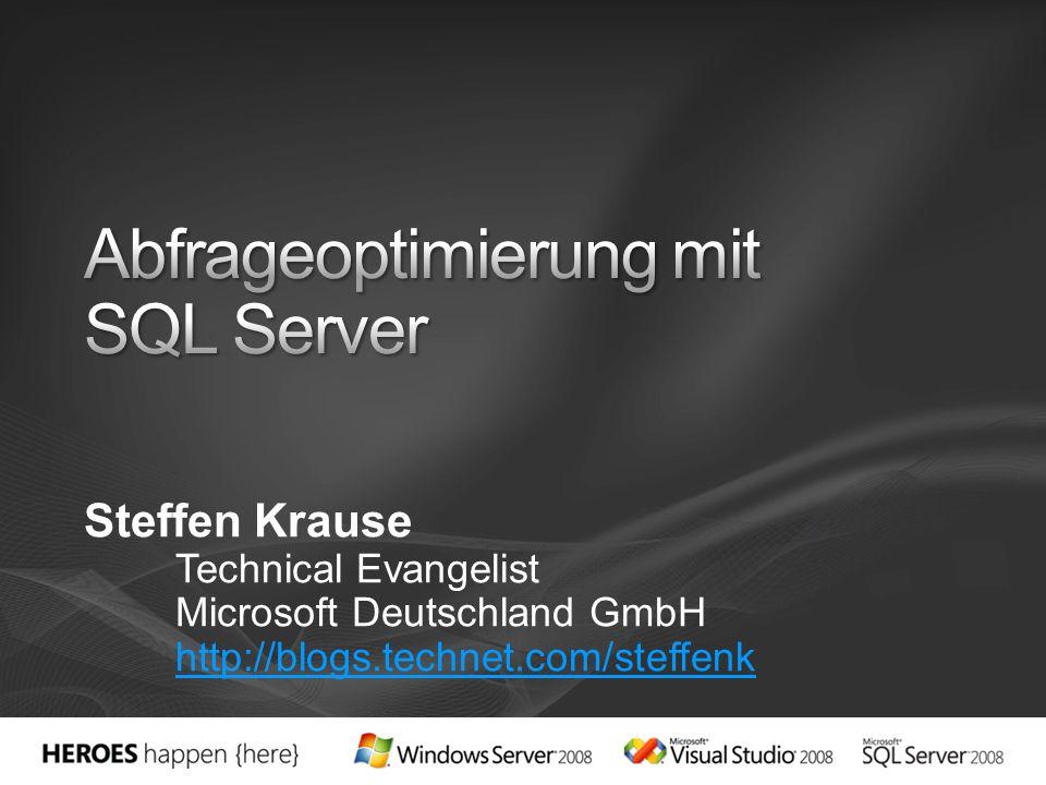 Abfrageoptimierung mit SQL Server