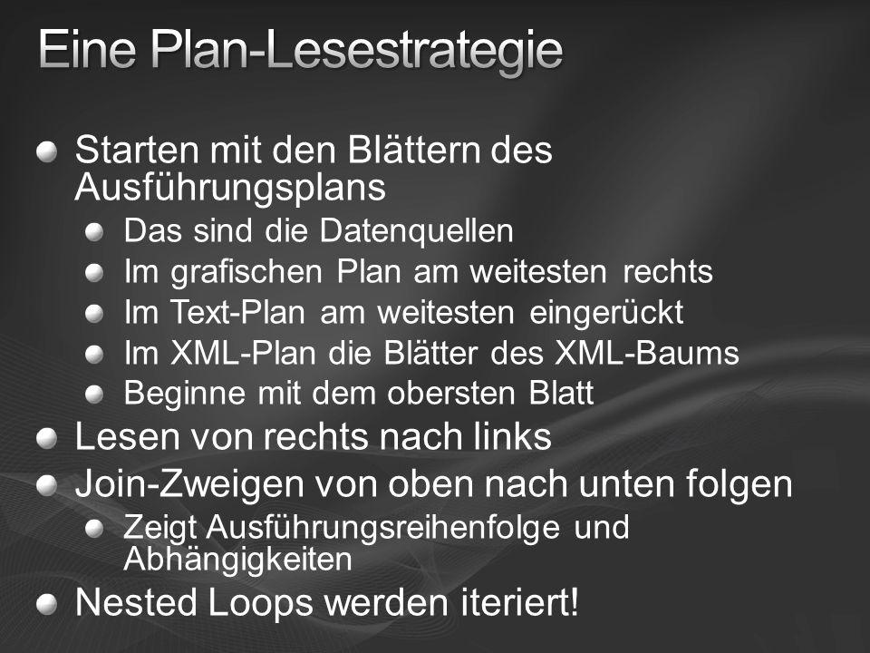 Eine Plan-Lesestrategie