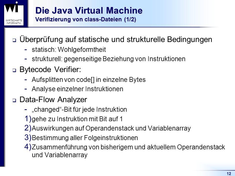 Die Java Virtual Machine Verifizierung von class-Dateien (1/2)