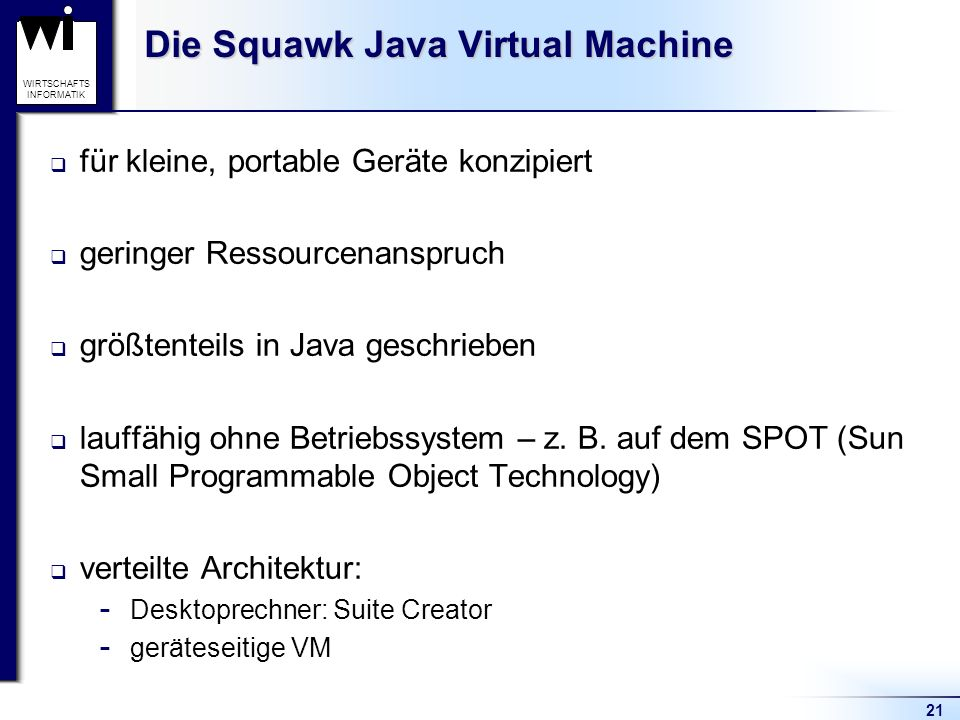 Die Squawk Java Virtual Machine