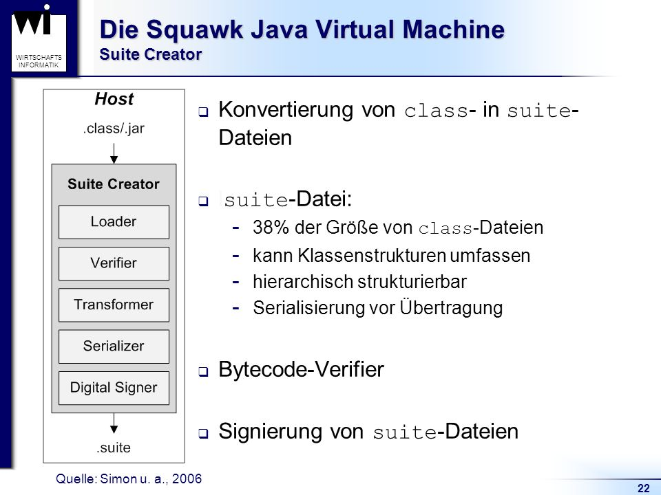 Die Squawk Java Virtual Machine Suite Creator