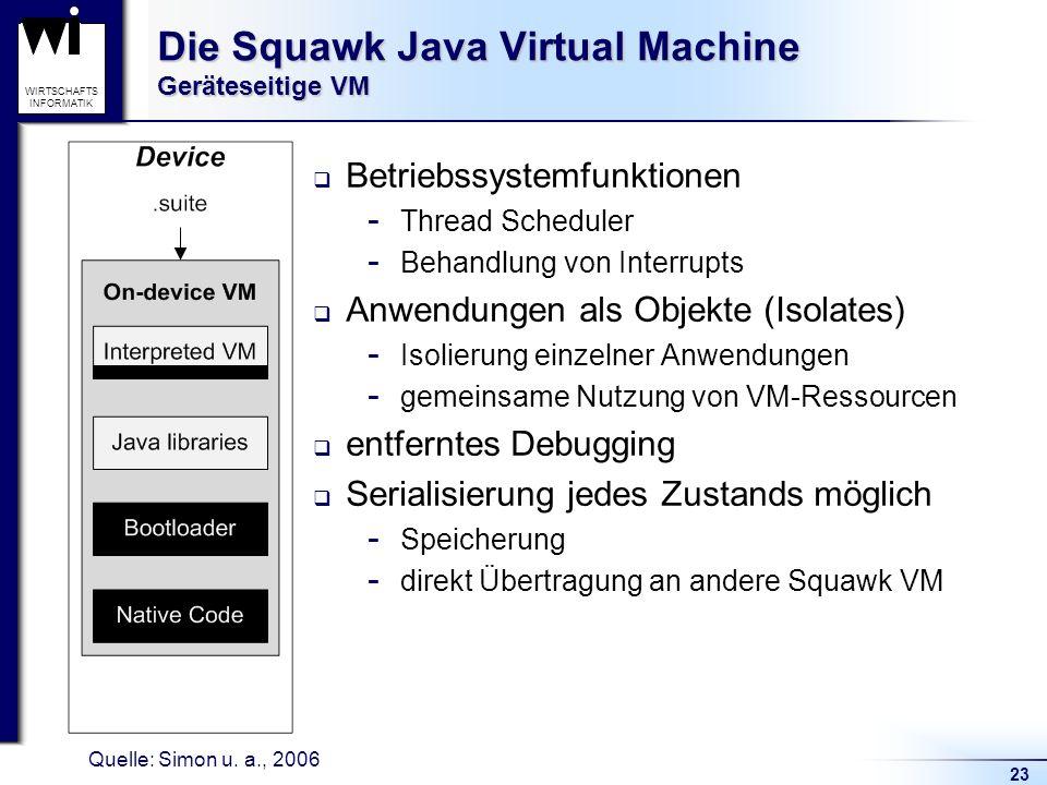 Die Squawk Java Virtual Machine Geräteseitige VM