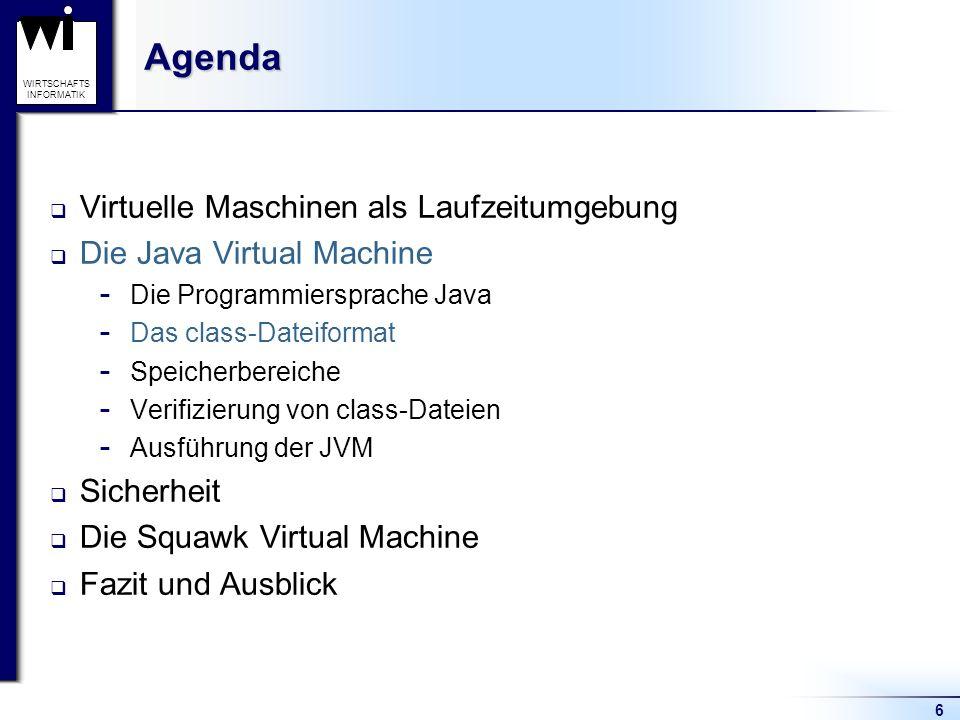 Agenda Virtuelle Maschinen als Laufzeitumgebung