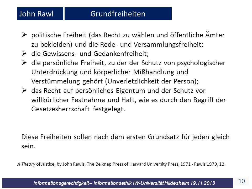 John Rawl Grundfreiheiten