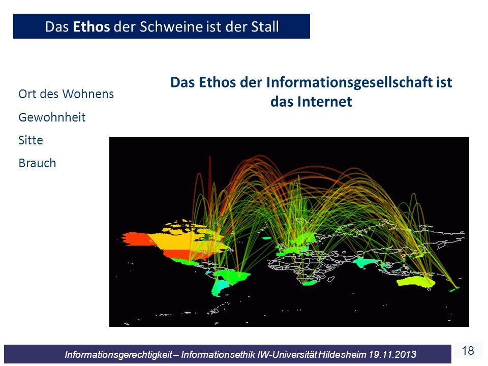 Das Ethos der Informationsgesellschaft ist das Internet
