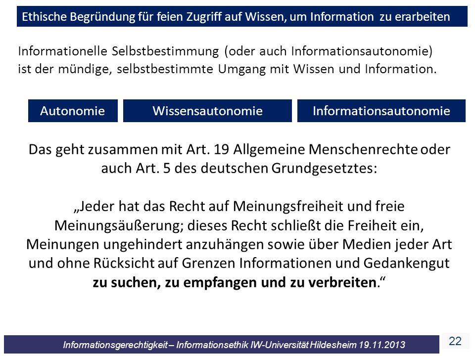 Informationsautonomie