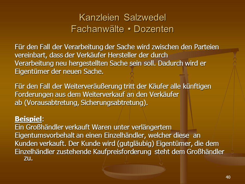 Kanzleien Salzwedel Fachanwälte • Dozenten
