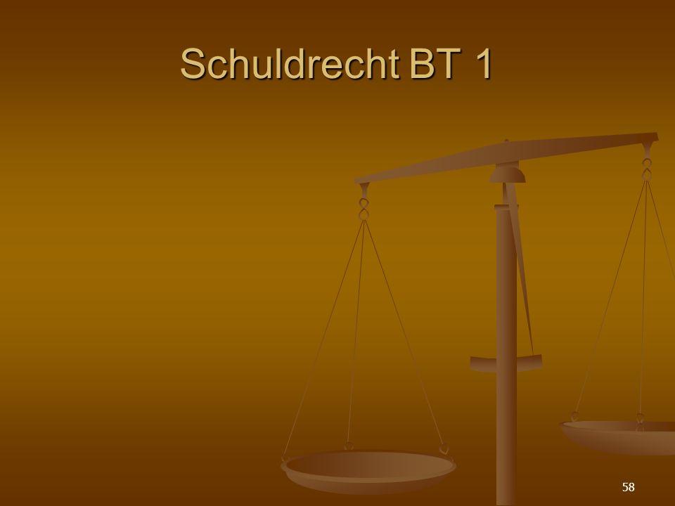 Schuldrecht BT 1