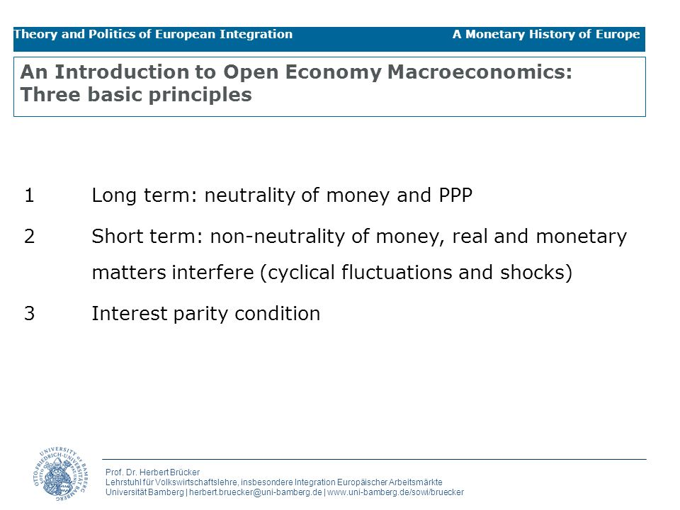 An Introduction to Open Economy Macroeconomics: Three basic principles
