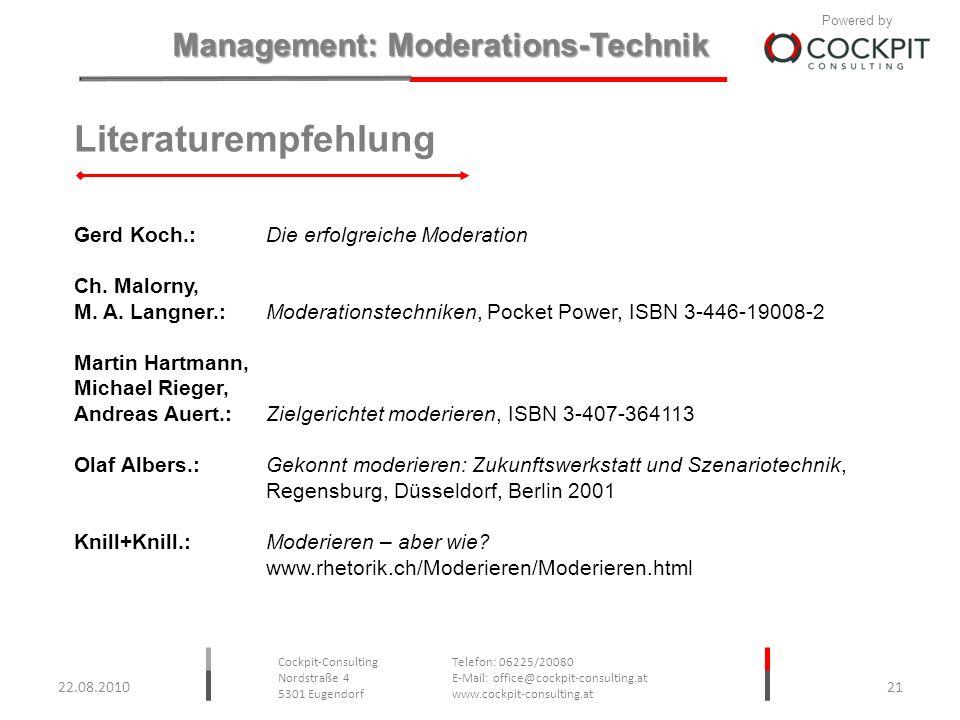 Literaturempfehlung Gerd Koch.: Die erfolgreiche Moderation