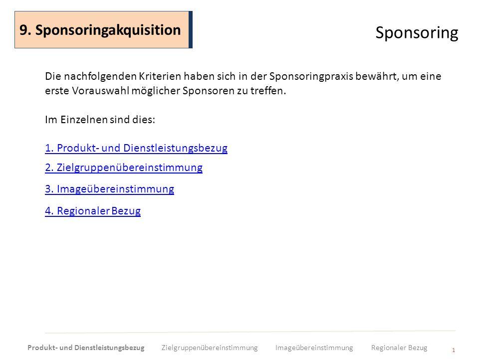Sponsoring 9. Sponsoringakquisition
