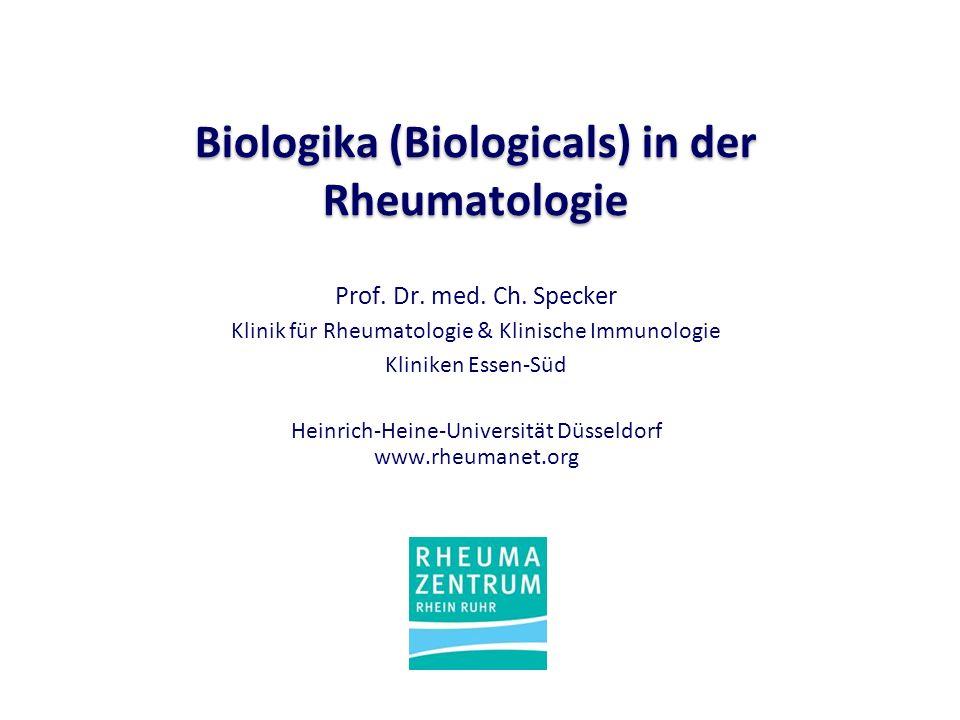 Biologika (Biologicals) in der Rheumatologie